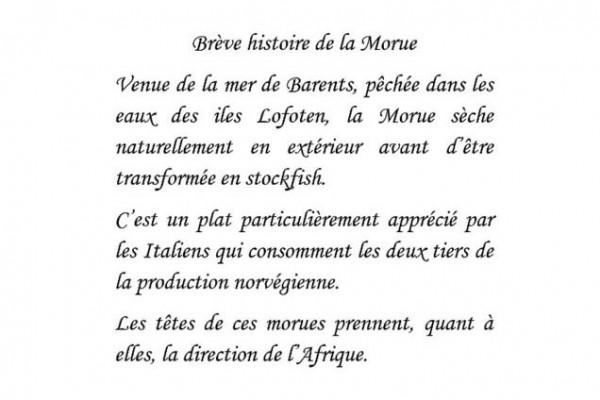 Brève histoire de la Morue, Alain Marlier